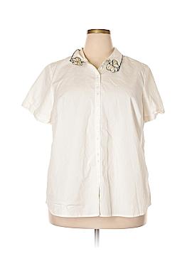 ModCloth Short Sleeve Button-Down Shirt Size 3X (Plus)