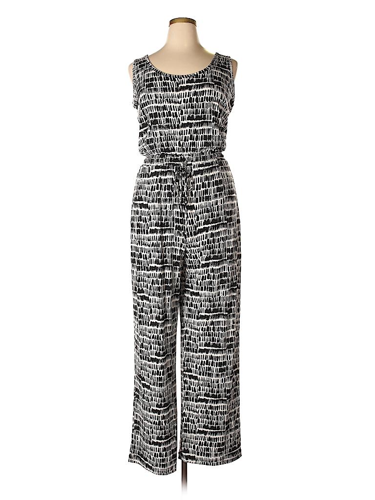 Calvin Klein Print Black Jumpsuit Size 14 52 Off Thredup