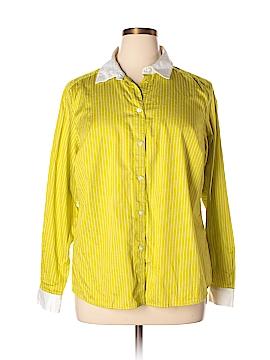 Jones New York Collection Long Sleeve Button-Down Shirt Size 16