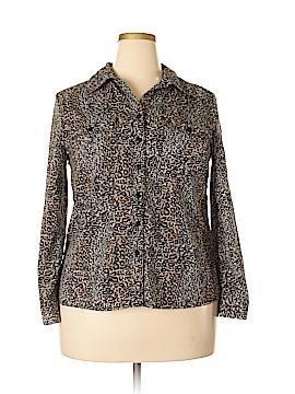 Kim Rogers Signature Long Sleeve Blouse Size XL (Petite)
