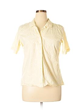 Denim & Co Short Sleeve Button-Down Shirt Size XL