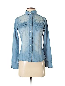 Fun & Flirt Long Sleeve Button-Down Shirt Size S