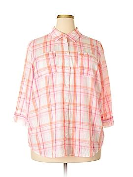 Croft & Barrow 3/4 Sleeve Button-Down Shirt Size 1X (Plus)