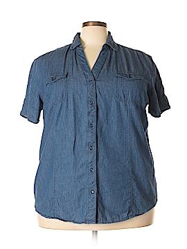 Bit & Bridle Short Sleeve Button-Down Shirt Size 2X (Plus)