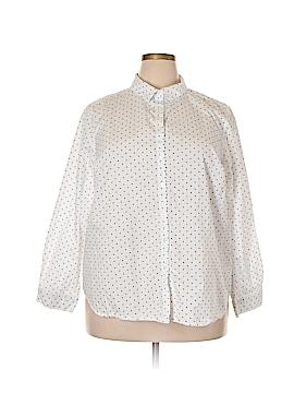 Ellos Long Sleeve Button-Down Shirt Size 20W (Plus)