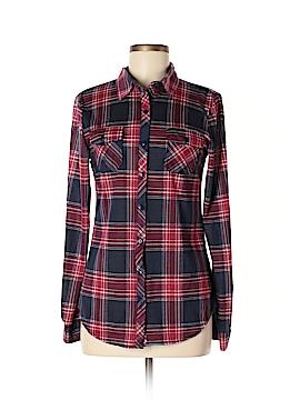 Bella D Long Sleeve Button-Down Shirt Size M