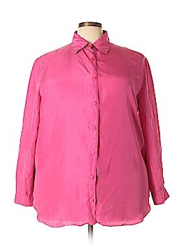 Diane von Furstenberg Long Sleeve Silk Top Size 1X (Plus)