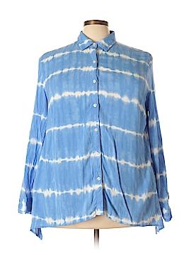 Jones New York Sport Long Sleeve Button-Down Shirt Size 2X (Plus)