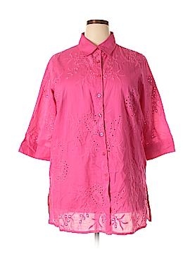 Denim 24/7 3/4 Sleeve Button-Down Shirt Size 20 (Plus)