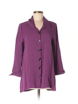 Peck & Peck 3/4 Sleeve Button-Down Shirt Size M