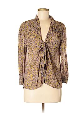 Hinge Long Sleeve Silk Top Size M