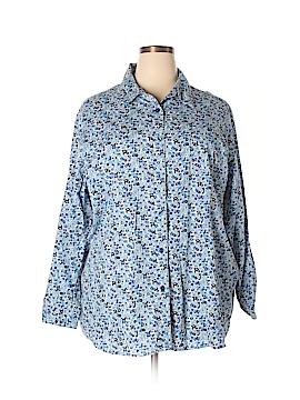Chelsea Studio Long Sleeve Button-Down Shirt Size 2X (Plus)