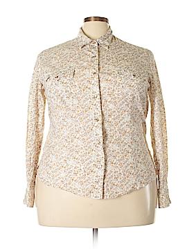 Shyanne Long Sleeve Button-Down Shirt Size 2X (Plus)