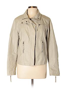 Apt. 9 Women Faux Leather Jacket Size L
