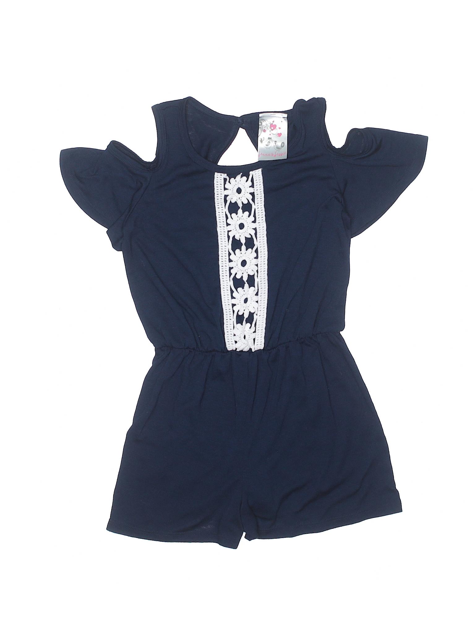 22cf2615df12 Jenna   Jessie Solid Navy Blue Romper Size 6 - 65% off