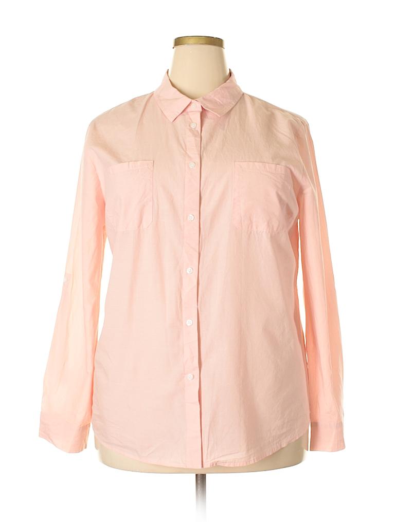 Jaclyn Smith Women Long Sleeve Button-Down Shirt Size XXL