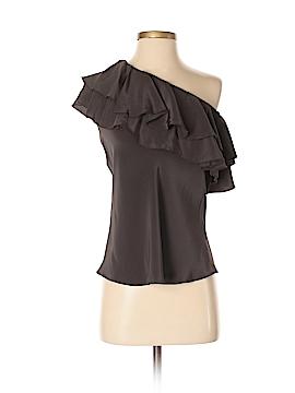 Karina Grimaldi Short Sleeve Silk Top Size XS