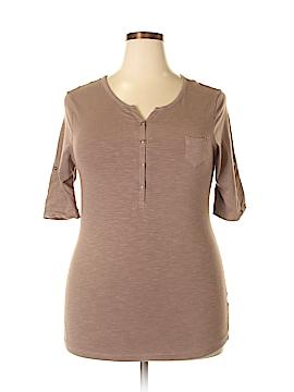 Magellan Sportswear Short Sleeve Henley Size XL