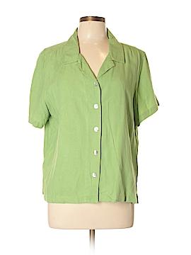 Jamaica Bay Short Sleeve Silk Top Size XL