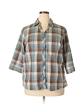 Quizz Woman 3/4 Sleeve Button-Down Shirt Size 20 (Plus)