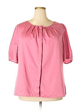 Talbots Short Sleeve Button-Down Shirt Size 18 (Plus)