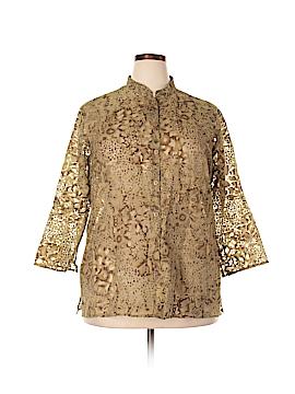 Allyson Whitmore 3/4 Sleeve Blouse Size 3X (Plus)