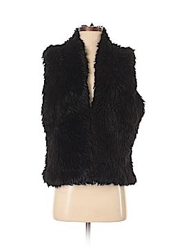 Garnet Hill Faux Fur Vest Size S