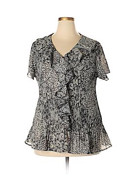 DressBarn Short Sleeve Blouse Size 2X (Plus)
