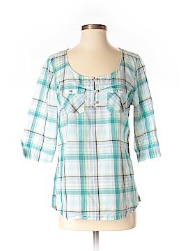 Eddie Bauer 3/4 Sleeve Button-Down Shirt Size S