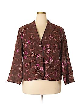Grace Dane Lewis Silk Blazer Size 16w
