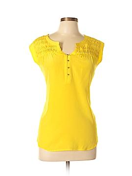 Daniel Rainn Short Sleeve Silk Top Size L