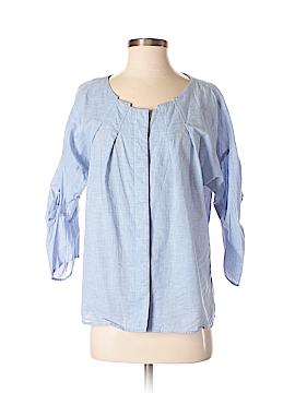 Ellen Tracy 3/4 Sleeve Button-Down Shirt Size 0