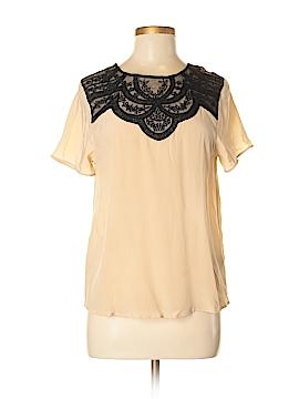 Lie Short Sleeve Silk Top Size XS