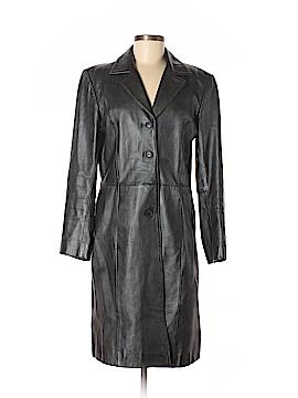 INC International Concepts Leather Jacket Size M