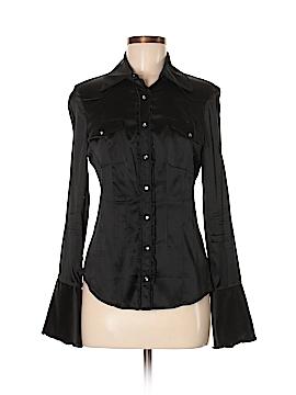 Bebe Long Sleeve Silk Top Size M