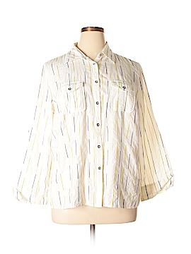 Charter Club Long Sleeve Button-Down Shirt Size 18 (Plus)