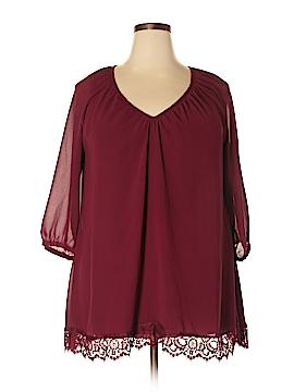 Massini 3/4 Sleeve Blouse Size 1X (Plus)