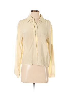 Creative Commune Long Sleeve Silk Top Size S