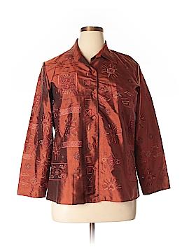 Mirasol Long Sleeve Silk Top Size L