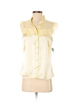 Antonio Melani Short Sleeve Silk Top Size S