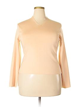 Liz Claiborne Long Sleeve Silk Top Size XL
