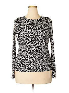 Jones New York Collection Long Sleeve T-Shirt Size XL