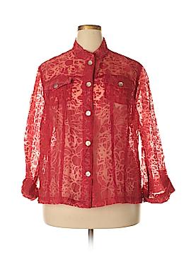 Lark Lane Long Sleeve Button-Down Shirt Size 20W (Plus)