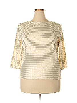 Villager Sport by Liz Claiborne 3/4 Sleeve T-Shirt Size XL