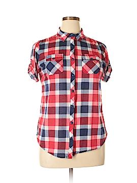 Bella D Short Sleeve Blouse Size XL