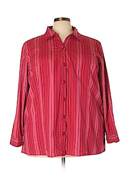 Liz & Me 3/4 Sleeve Button-Down Shirt Size 3X (Plus)