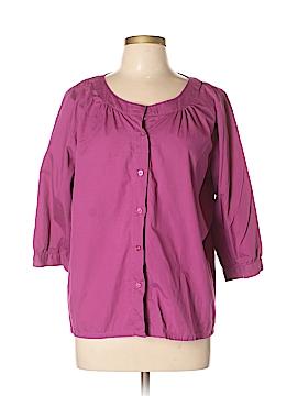 D&Co. 3/4 Sleeve Button-Down Shirt Size L
