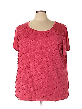 Sag Harbor Short Sleeve Top Size 3X (Plus)
