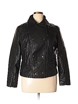 Rue21 Faux Leather Jacket Size 1X (Plus)