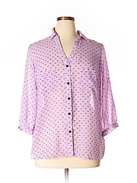 Xhilaration Long Sleeve Blouse Size 1X (Plus)